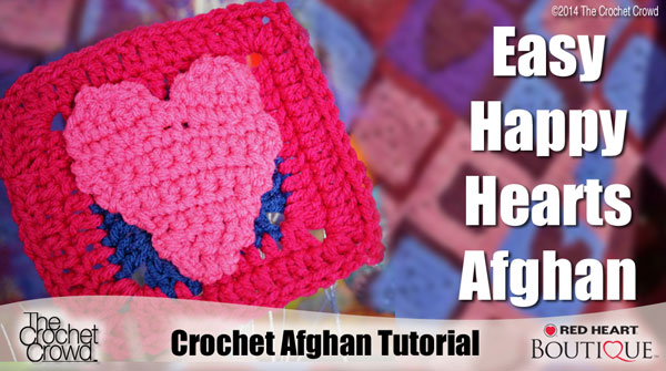 Hearts Applique Crochet Pattern
