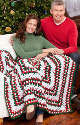 Crochet Christmas Holiday Throw The Crochet Crowd