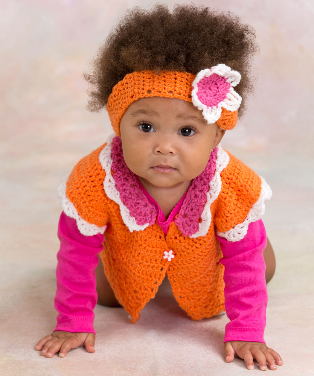 Incredible Flower Petal Baby Sweater Crochet Pattern - The Crochet ...