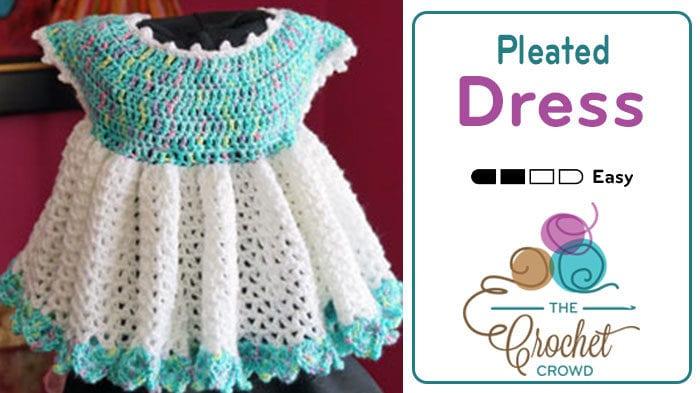 Crochet Pleated Little Sweetie Dress