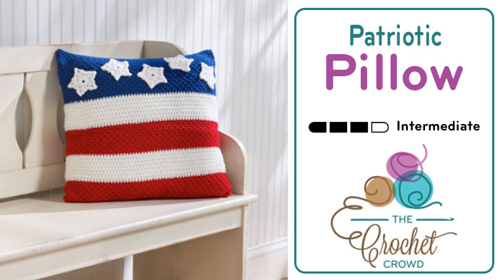 Crochet Patriotic Pillow