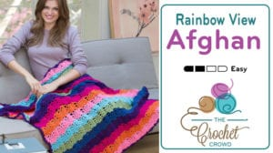 Crochet Rainbow View Afghan