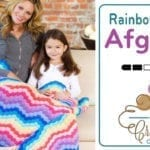 Crochet Rainbow Waves Throw + Tutorial