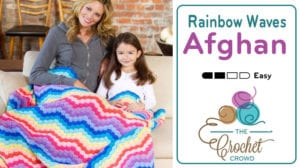 Crochet Rainbow Waves Afghan