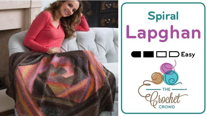 Crochet Spiral Lapghan