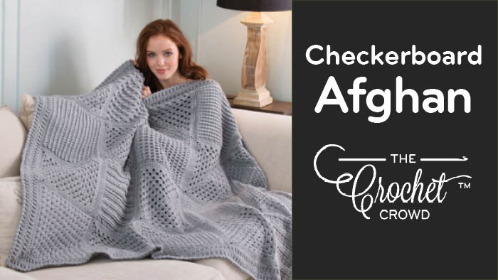 Crochet Checkerboard Stitch Sampler Afghan Tutorials The Crochet