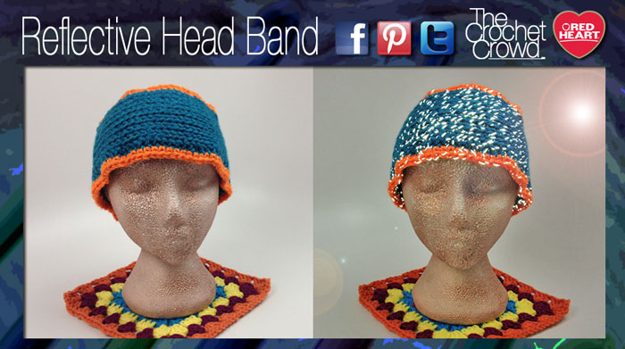 Reflective Head Band Pattern Video Tutorial The Crochet Crowd