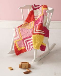 Summer days, Lion Brand, Baby, Throw, Blanket, Afghan,