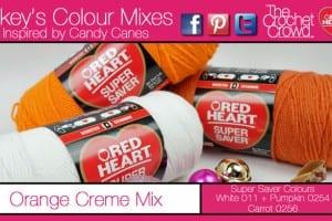Orange Colour Mix for Candy Canes