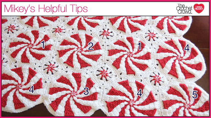 Peppermint Throw Afghan Peppermint Candy Crochet Blanket Pattern