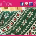 Poinsettia Crochet Cross Stitch Throw + Tutorial