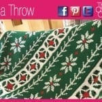 Poinsettia Crochet Cross Stitch Throw + Video Tutorial