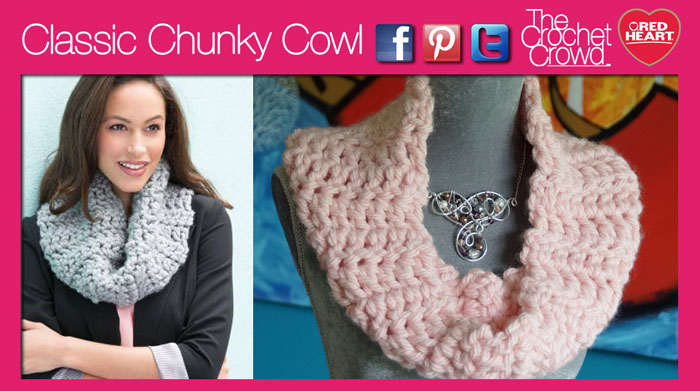 Crochet Classic Chunky Cowl Tutorial The Crochet Crowd