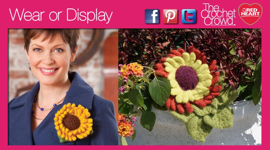 Felted Sunflower Crochet Pattern