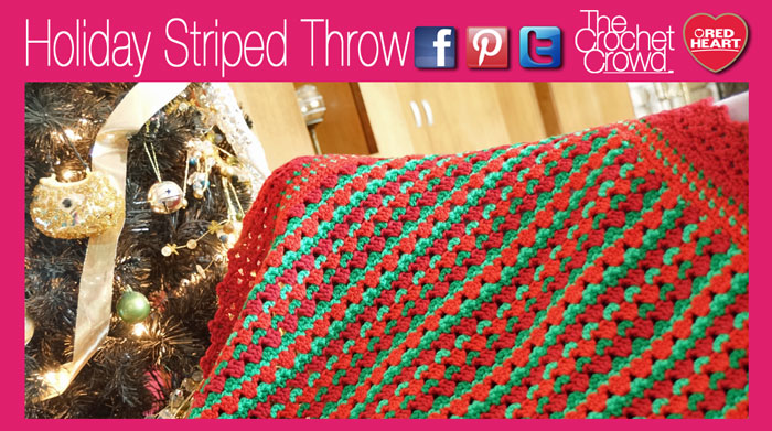 Holiday Striped Christmas Afghan The Crochet Crowd