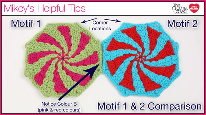 Motif 1 and Motif 2 Peppermint Throw