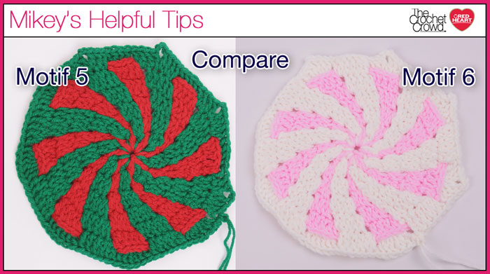Compare Peppermint Throw Afghan Motifs