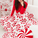 Peppermint Throw for Crocheters