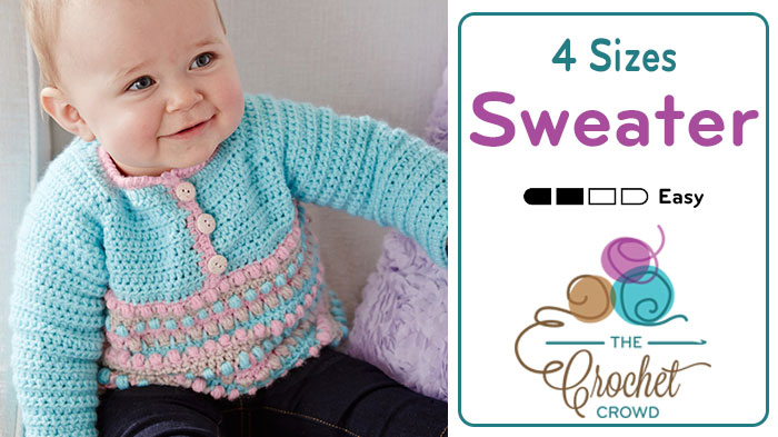 Crochet Baby Pull Over Sweater Tutorial The Crochet Crowd