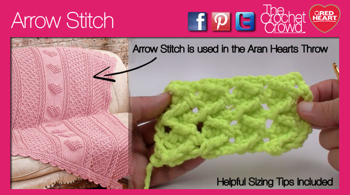 Arrow Crochet Stitch
