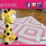 Baby Diamonds Afghan + Video Tutorial