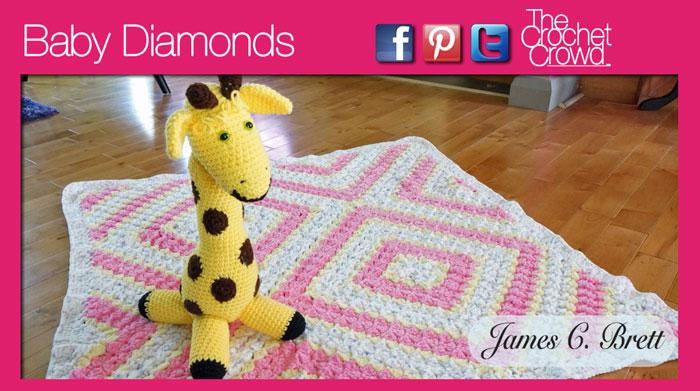 Baby Diamonds Afghan + Video Tutorial | The Crochet Crowd