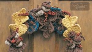 Crochet Autumn Harvest Wreath