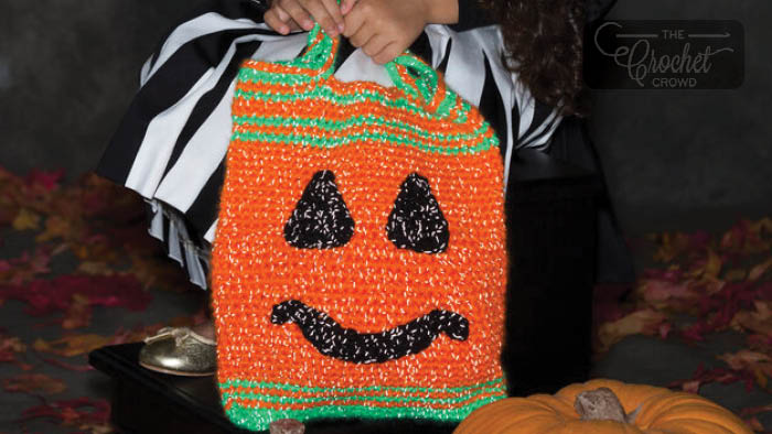 Crochet Trick or Treat Bags + Tutorial