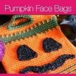 Pumpkin Face Trick or Treat Bags + Tutorial
