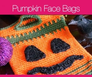 Pumpkin Face Bags
