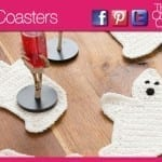 Crochet Ghost Coasters + Video Tutorial