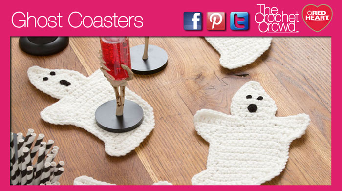 Learn to Crochet Ghost Coasters