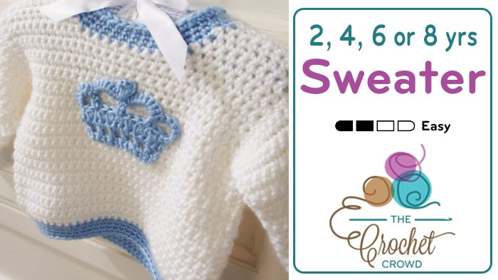 Crochet Kids Sweater Pattern + Tutorial