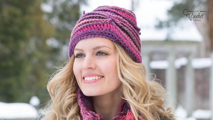 Crochet Corrugated Hat Pattern
