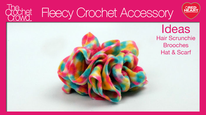 Boutique Fleecy Yarn, Hair Scrunchie