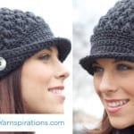 Crochet Women's Peak Cap + Tutorial