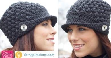 Women's Peak Crochet Hat