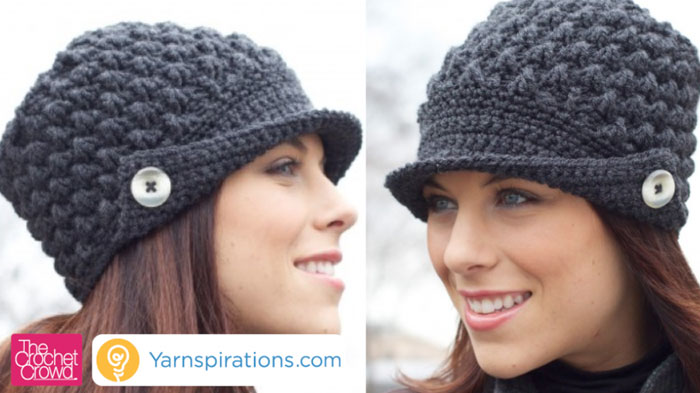 Women's Peak Crochet Hat