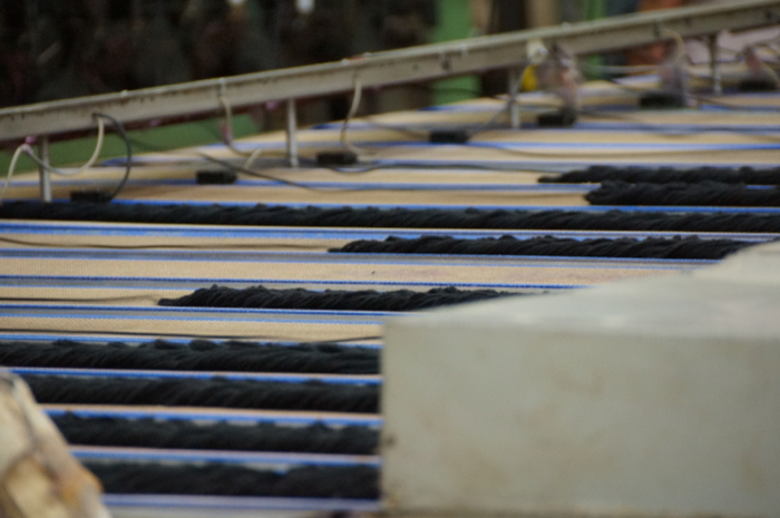 Conveyors Move the Yarn