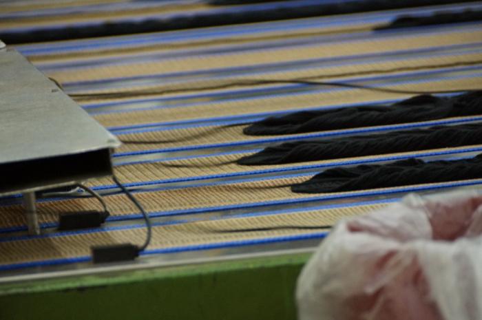 Conveyors Move the Yarn