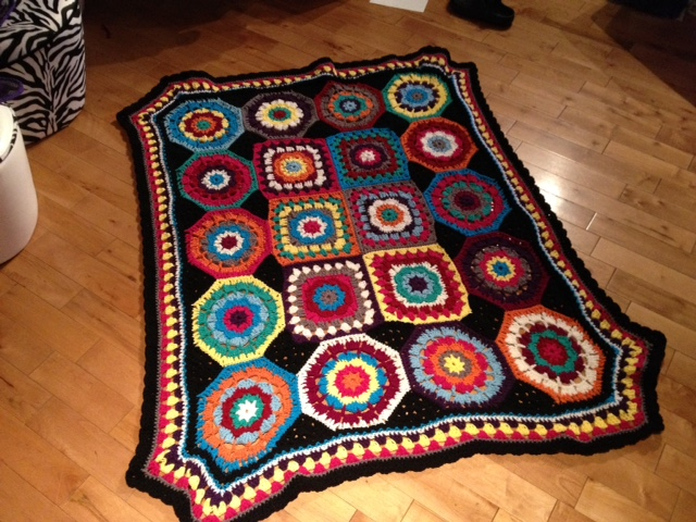 In Love with Color Crochet Afghan