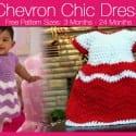 Crochet Chevron Chic Baby Dress + Tutorial