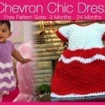 Crochet Chevron Chic Baby Dress + Tutorial