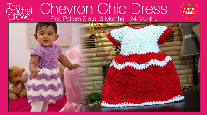 Crochet Chevron Chic Baby Dress Tutorial The Crochet Crowd