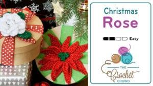 Crochet Christmas Rose