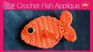 Crochet Fish Applique
