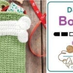 Crochet Dog Bone Applique + Tutorial