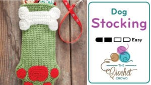 Crochet Dog Stocking
