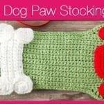 Dog Paws Christmas Stocking