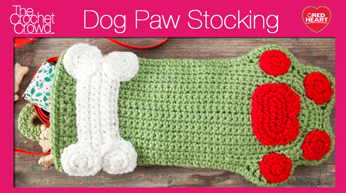 Dog Paws Christmas Stocking